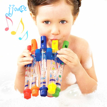 5pcs Water Flutes Row New Kids Children Colorful Bath Tub Tunes Toy Fun Music Sounds Bath Toy(China)