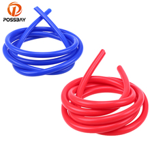 POSSBAY 2M 3mm/4mm/6mm/7mm Vacuum Hose Tubing Blue Red Color For Water Oil Vacuum Transport Pipe Line Universal For Cars(China)