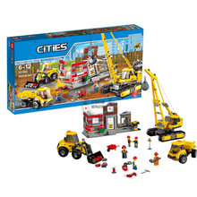 2017 City Series Demolition Site Construction Crane Toys  02042 DIY Brick Kids Xmas Gift Model 60076