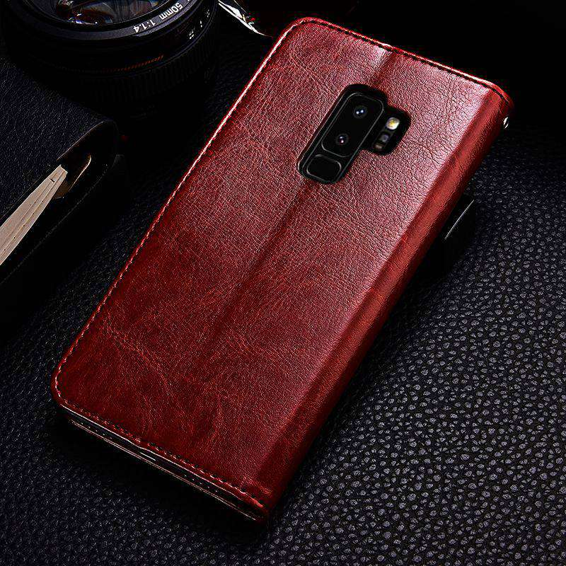 S9 S9+ Luxury Flip Leather Case For Samsung Galaxy S9 S9 Plus Wallet Card Pocket Coque Cover For Samsung S9 S9 Plus Case Fundas (8)