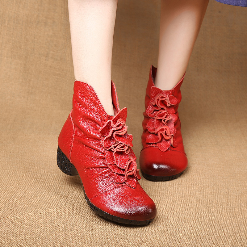 2017 autumn and winter new style of fashion leisure fashion retro female boots<br>