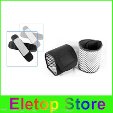 Free shipping 2pairs Magnetic Therapy wrist massage brace heating Protection Spontaneous Heating tourmaline wrist heating belt