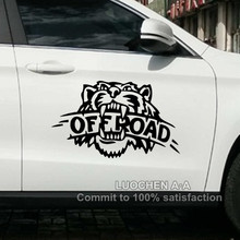Car Stickers Tiger OFF ROAD SUV Creative Decals Cyter For doors Waterproof Auto Tuning Styling 4WD 4x4 25*16cm & 50*32cm D20(China)