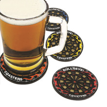 4Pcs/set Round Bullseye Coasters Dart Board Drink Bottle Beer Beverage Cup Mats(China)