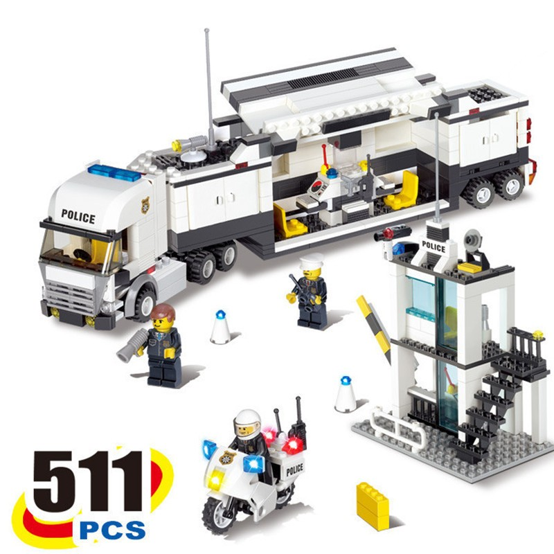 Building Blocks Toys kazi 6727 City Police Trucks Command Compatible With High Quality Plastic Bricks Scale Models Kazi Brand <br><br>Aliexpress