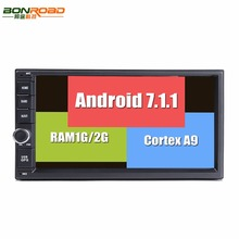 BonroadAndroid 7.1.1  7'' Universal 2Din 1024*600 Ram1G-2G Cortex A9 For Nissan GPS Radio Stereo Audio Player(No DVD) Quad core
