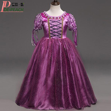 2017 Vestido Baby Girls Purple Dress Fashion Sophia Princess Christmas Dresses Kids Party Ball Gown Costume Childrens Clothing(China)