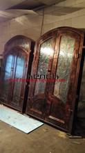 "Custom design 72"" x 98"" custome design double wrought iron doors iron front doors Jan8"