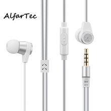 New Metal Net In-ear Earbuds LV14 With 3.5MM Connector Earpiece High Quality Heavy Bass With Mic For Samsung Xiaomi Iphones PC