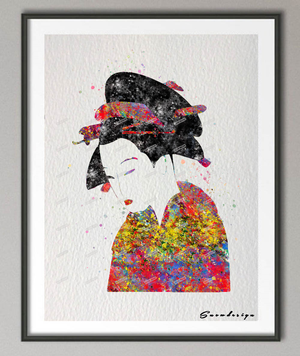 Popular japanese geisha paintings buy cheap japanese for Poster prints for sale