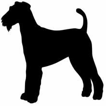 15.2*15.2CM Airedale Terrier Fashion Pet Dog Car Sticker Car Styling Classic Decorative Decals C6-1687