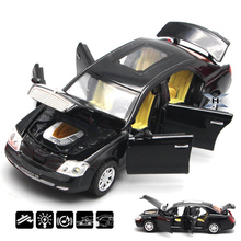 Free Shipping 1:32 Maybach Commercial vehicles Car Alloy Model Toy Car As Gift For Child Four doors can be opened Kids Toys(China)