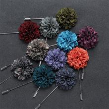 2pieces  DIY silk Rose flowers Korea Style Man Corsage Groom groomsman suit men Boutonniere pin brooch Wedding party decorations