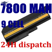 HSW 7800MAH Battery for IBM Lenovo ThinkPad R60 R60e T60 T60p R500 T500 W500 SL400 SL500 SL300 SL510 40Y6799,40Y6795,bateria(China)