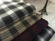pf47 TWILL Sanded Cotton fabric cloth textile tartan  winter coat fabric retail or wholesale 50cm x 145cm