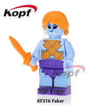 Single Sale Faker Skeletor Rare Motu Master of the Universe Vintage He Man Heman Hu-man Building Blocks Children Gift Toys KF316