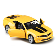 1:36 Scale RMZ city Chevrolet Camaro Racing Car Diecast Metal Pull Back Model Toy Car For Kids Gift Collection Free Shipping