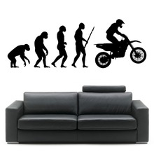 New Arrive  Darwin Evolution of Man Motorbike Show  Wall Sticker Art  Evolution  Decal Home Decoration Wall Papers  A-10