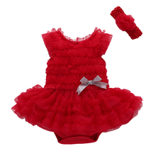 2017 Rushed Cotton Bow Summer New Born Baptism Baby Girl Dress;tutu Wedding Dress Party;princess Birthday Vestido For