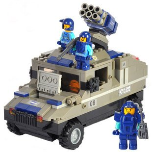 Candice guo!Building blocks set special forces armored Hammer educational plastic toy kids toy assembles particles<br><br>Aliexpress