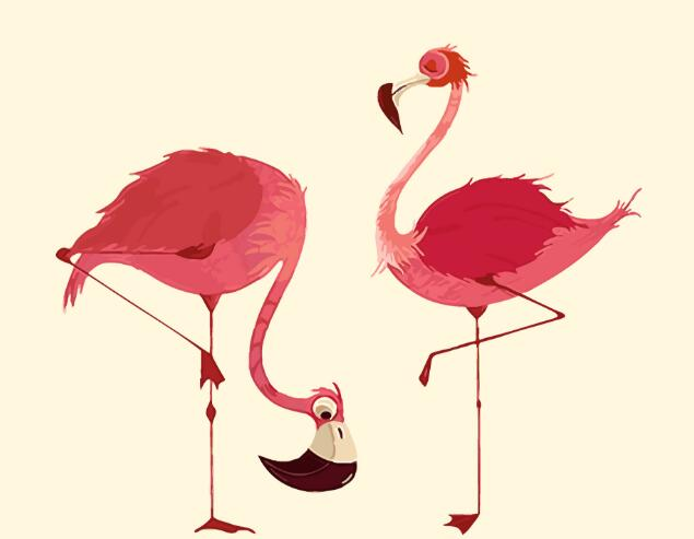 2017 New 22 styles Digital Diy oil painting by numbers Flamingo picture on canvas oil paint coloring by number drawing x38 24