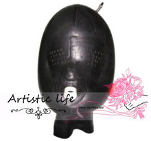 Buy Customized Hood Mask Fetish Latex inflatable hood Free Shipping Fast Delivery