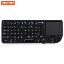Zeepin TR-MWK Mini Rechargeable Slim  2.4GHz Wireless QWERTY Keyboard Touchpad with Receiver optimized keys