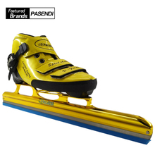 PASENDI Professional Roller Skates Adults ice hockey skates Long Boot Skate Carbon ice blade Inline Speed patins Rollers Shoes(China)