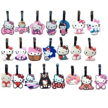 22Style Hello Kitty Cute Creative Silicone Luggage Tag Pendants Hang Tags Tourist Products Toy Figure 1pc