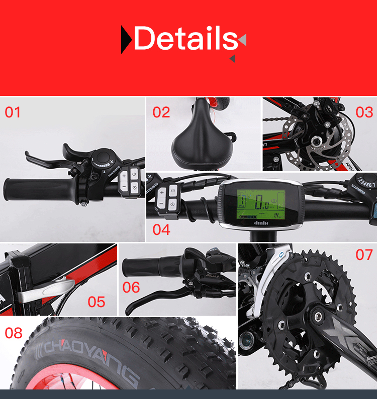 Electric Bike A Computadora Speedometer Electric Kilometer Meter Powerful Electric Bike Mtb Bike 18ah 500 W Ebike