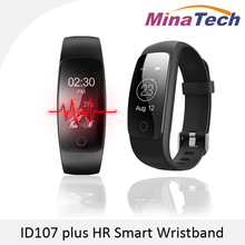 Orginal ID107 Plus HR Smart Heart Rate Bracelet Monitor ID107 Plus Wristband Health Fitness Tracking For Android iOS Vs MI Band