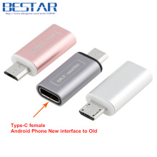 TOP Quality Rose gold Metal USB 3.1 Type C USB-C Female to Micro USB 2.0 Male Adapter Connector Adaptor For Android Smartphones