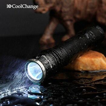 CoolChange 1000 lumens vélo T6 LED lampe de poche Torche Clip Mont Vélo Avant Lumière Support lampe de Poche Porte-vélo
