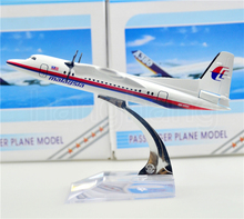 MALAYSIA AIRLINES SYSTEM BERHADFokker F50 14cm airplane child Birthday gift plane models toys Free Shipwping Christmas gift