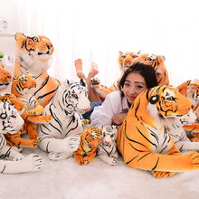 30pcs Cute plush 30/50/80cm yellow and White tiger model toys lovely stuffed doll Animal Hold pillow decoration Car Kids gift(China)