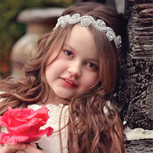 Fashion girl baby Handmade Wedding Ribbon Headband Rhinestone Bridal Hair Accessories Headbands for Women