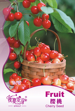 (Min. mix Order is $5.99)1 pack  High quality cherry tree seeds Original package,Full particles cherry fruit seeds Free shipping