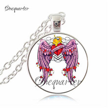 vintage bird jewelry parrot necklace colorful animal pendants necklace men womens jewellery bib necklace collares jewelry(China)