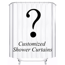 Customized Shower Curtain Waterproof Polyester Fabric 4 Sizes Shower Curtain For The Bathroom With 12 Hooks