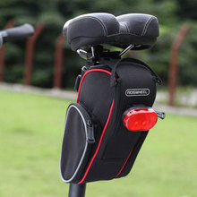 Buy High Bicycle Rear Saddle Bag Rainproof Nylon MTB Road Bike Pouch Bag Cycling Mountain Back Seat Tail Pouch Package FE5# for $13.23 in AliExpress store
