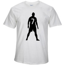 2017 summer C Lo Number 7 Free ball silhouette T shirt Real Madrid Cotton T-shirt