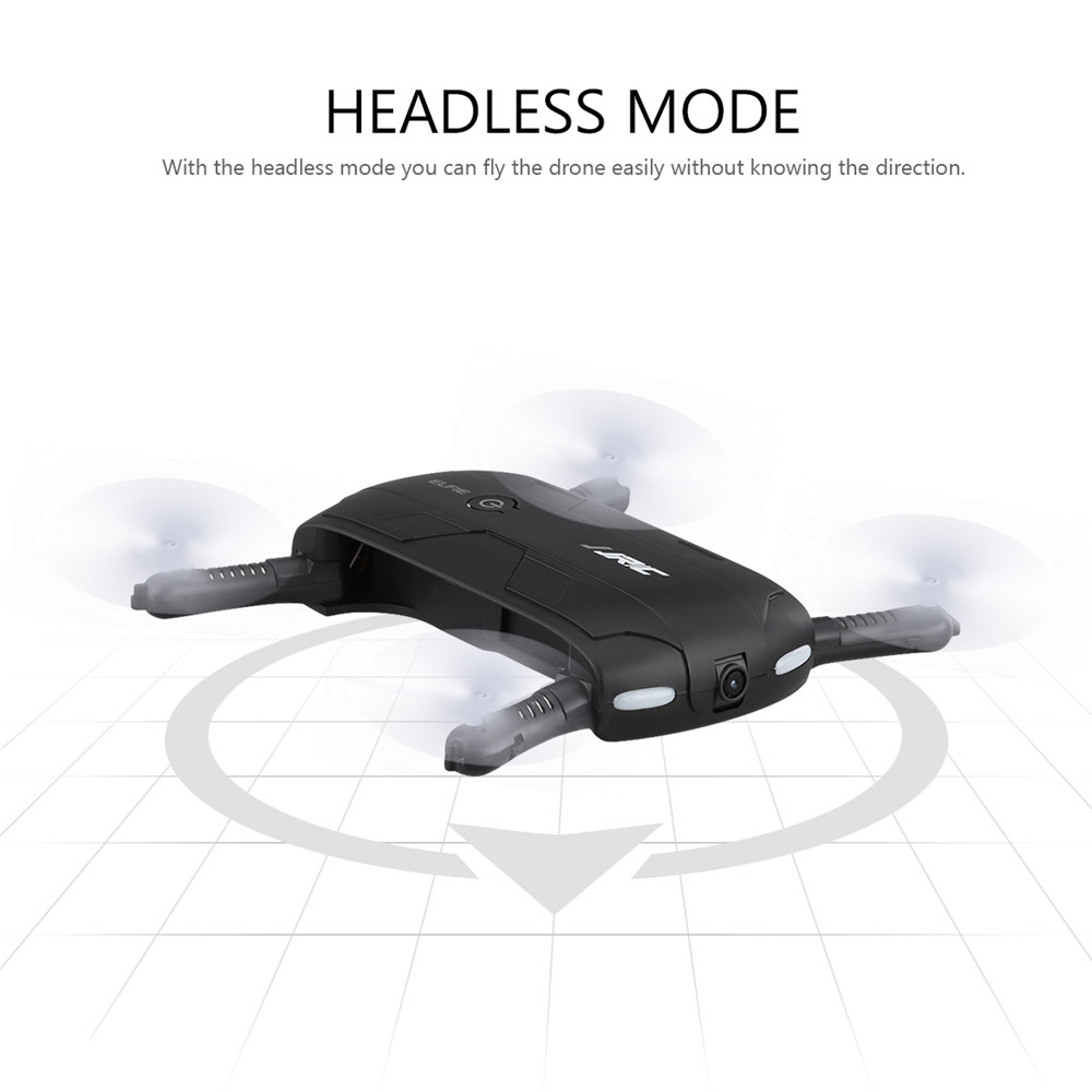 JJRC H37 ELFIE Foldable Pocket Selfie Drone WiFi FPV Phone Control Quadcopter Altitude Hold G-Sensor Mode 720P HD Selfie Drone 10