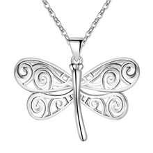 5pcs Fashion Animal Necklaces for Women jewellery Girl Necklace Kids Jewelry Dragonfly Necklaces Pendants with Chain Wholesale