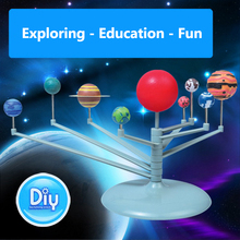 Children Creative Funny Gag Toy DIY 3D Simulation Science Solar System Nine Planets Scale Model Toy Children Kids Education Toys(China)