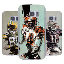 New  Super Ball NFL Football Player Pattern Soft TPU Silicone Case Fundas for Samsung Galaxy S4 S5 S6 Note 4 5 Capa