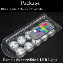 12 Pieces/Lot Super Bright RGB Colors Submersible Led Tea Light Candle Holder with Remote Controller for Glass Vase