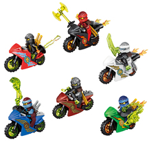 6pcs/set super heroes Ninja Motorcycle Building Blocks Bricks toys Kids Gifts Compatible lepin Ninjagoed - Shop3055008 Store store