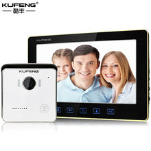New Arrival 10 inch Wired TFT Touch Screen Color Video Doorphone Camera Door Intercom Security Long-Distance Unlock