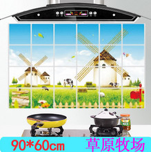 60*90cm Various Korea High-grade Aluminum Copper Waterproof and Oil Sticker Kitchen Wall Stickers For Home Decor CF015