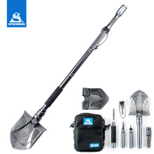 Outdoor Folding Shovel Axe Camping shovel With Flashlight Survival Military Shovels Snow car sets multifunctional
